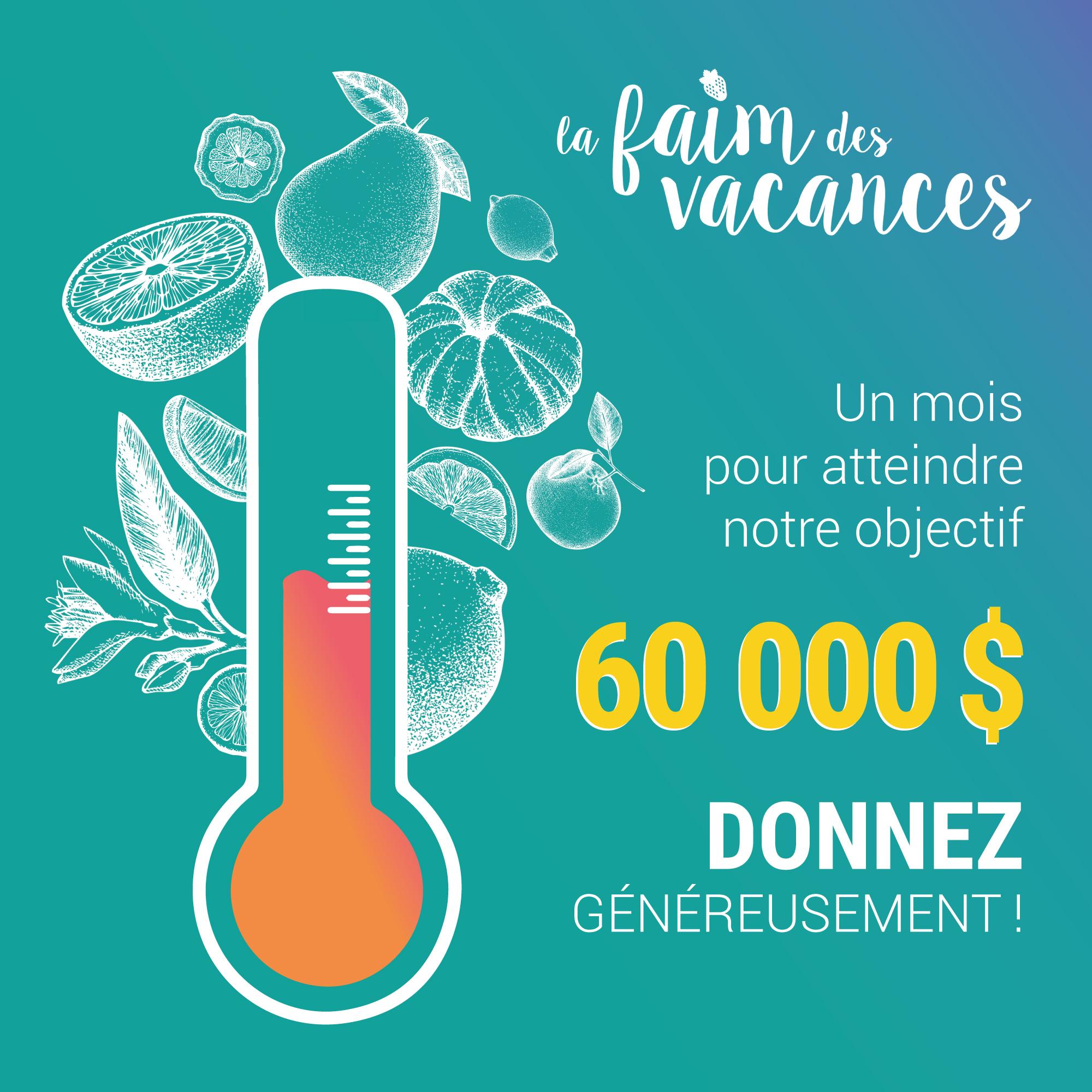 Pour pallier aux nombreux besoins, Moisson Montréal se donne l\u0027objectif  d\u0027amasser 60 000 $ afin d\u0027aider les familles les plus démunies à manger à  leur faim,