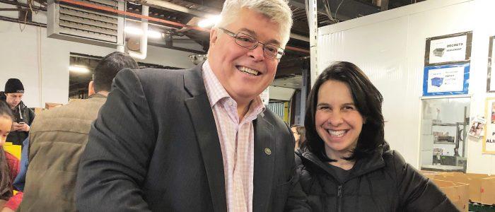 La mairesse à Moisson Montréal. Janvier 2019.