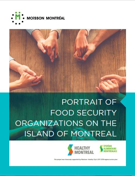 Portrait of food security organizations on the Island of Montreal