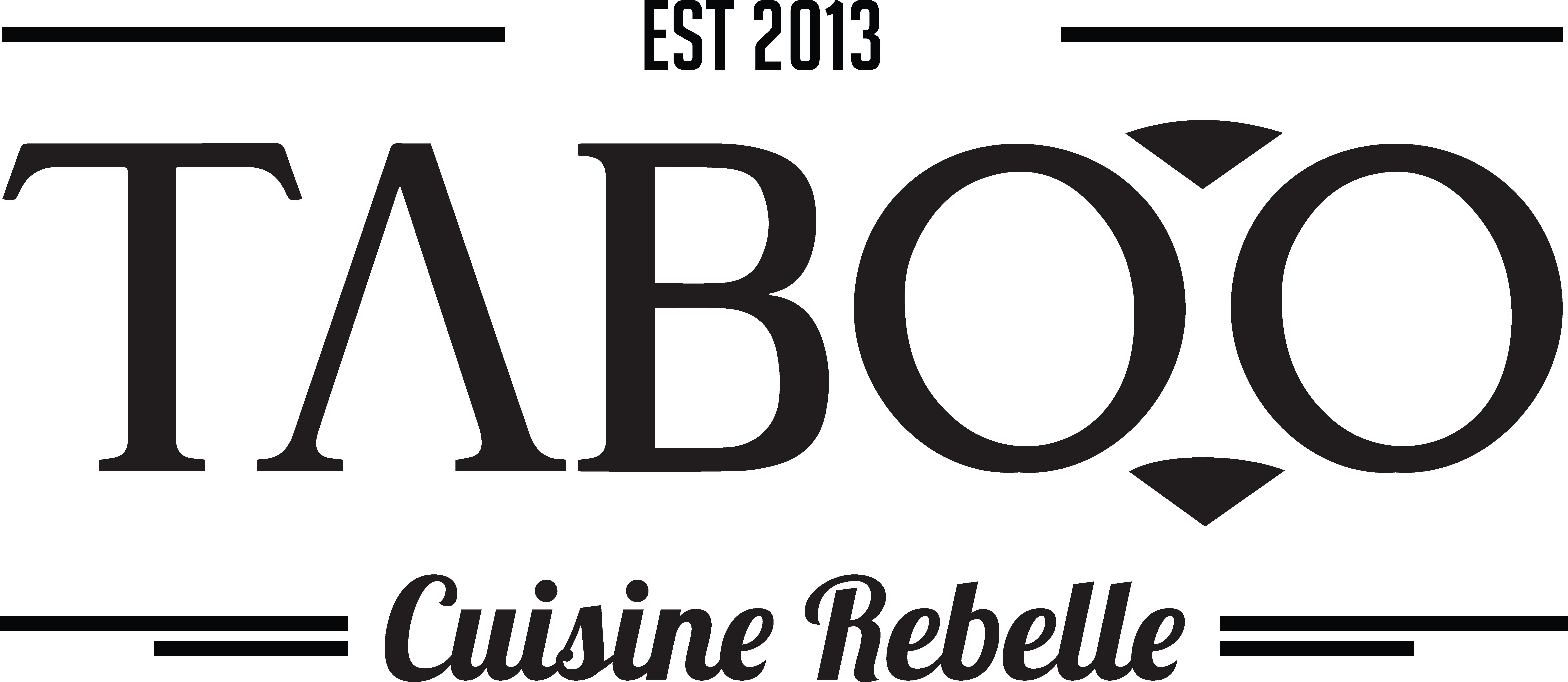 Logo Taboo Cuisine Rebelle