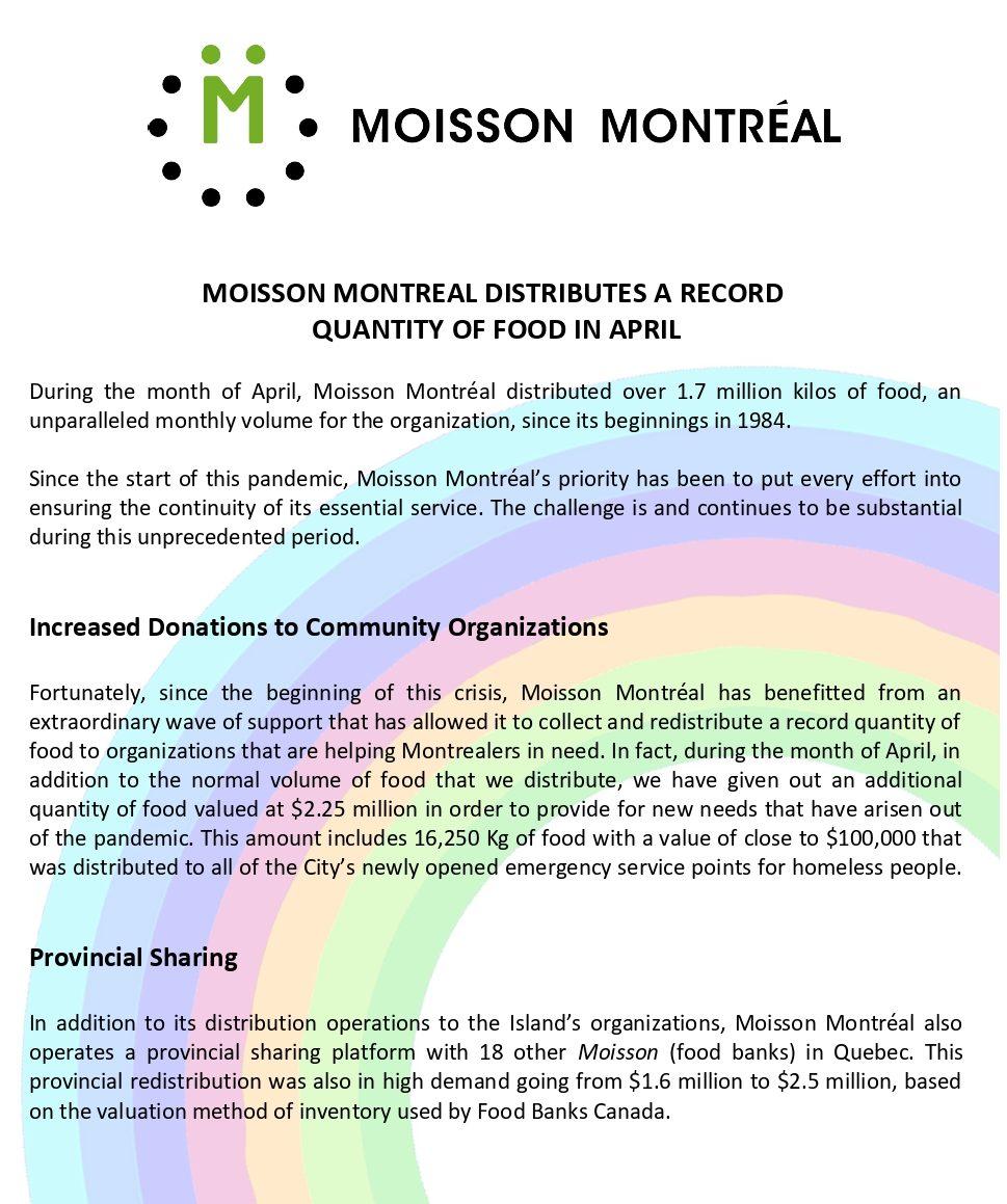 Press release April 2020